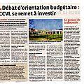 Echos de la ccvl: conseil communautaire du 20 février 2013