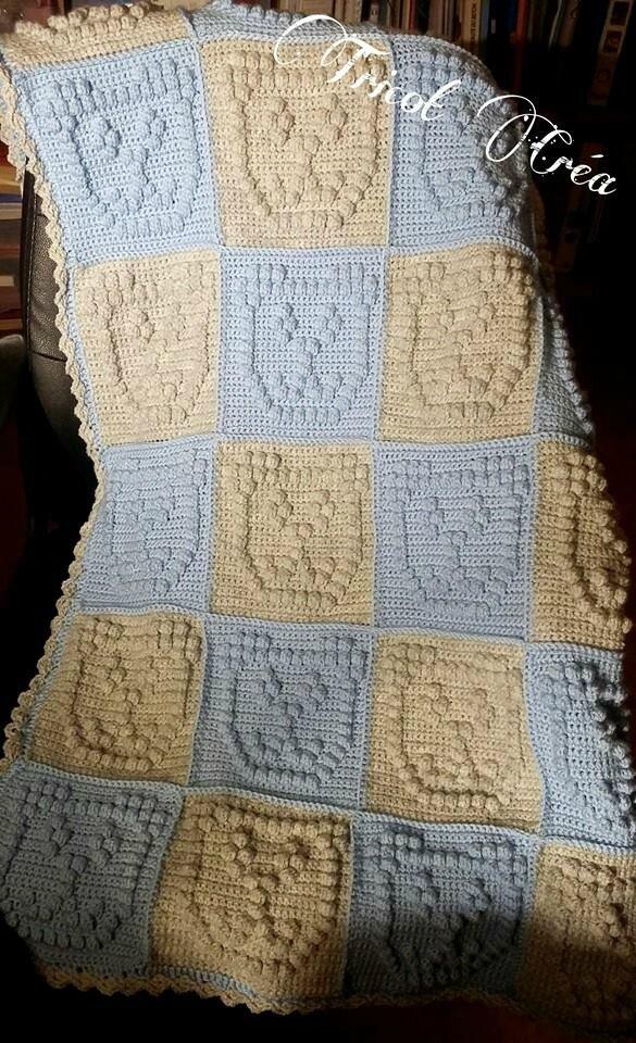 Article n°72 : Couverture Bébé (Blanket bobble stich)