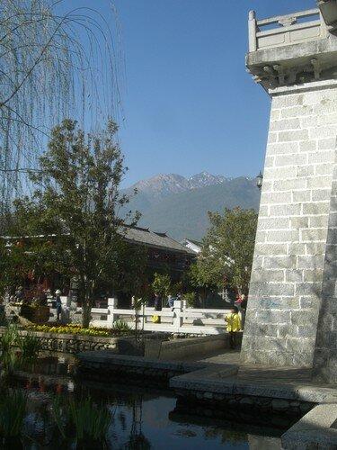 Dali, remparts et vue sur les Cangshan