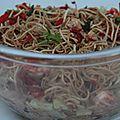 Salade de nouilles chinoises aux crevettes