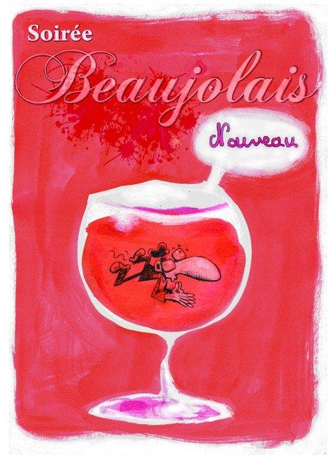 affiche Beaujolais nouveau bisweb