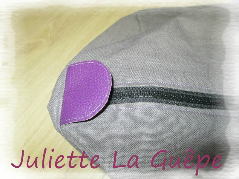 sac week end gris violet 6