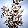 Comment peindre un bouquet de fleurs au brou de noix