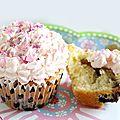 Cupcakes aux myrtilles et au chocolat blanc