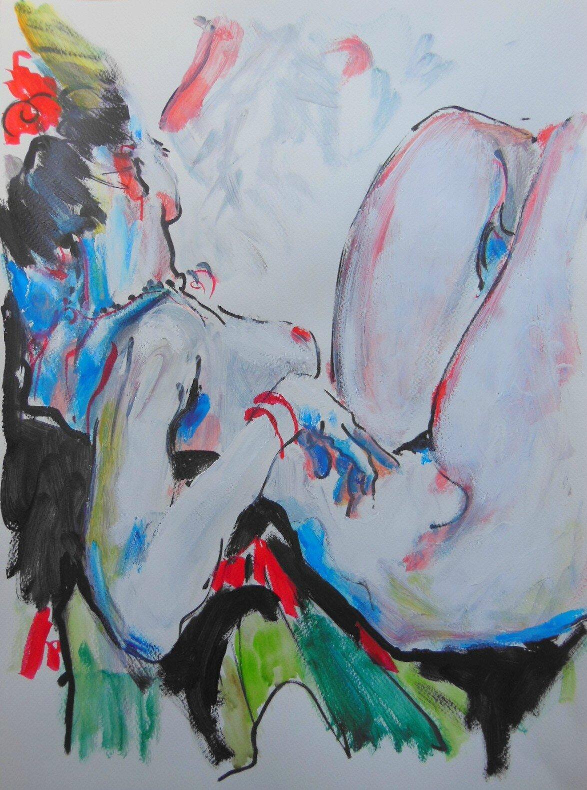 dessin de nus femme homme