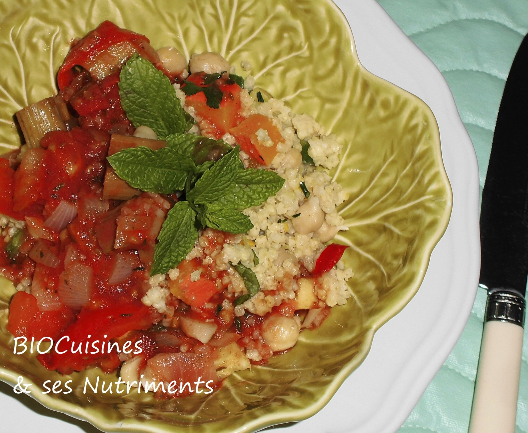 coucous tomate rhubarbe