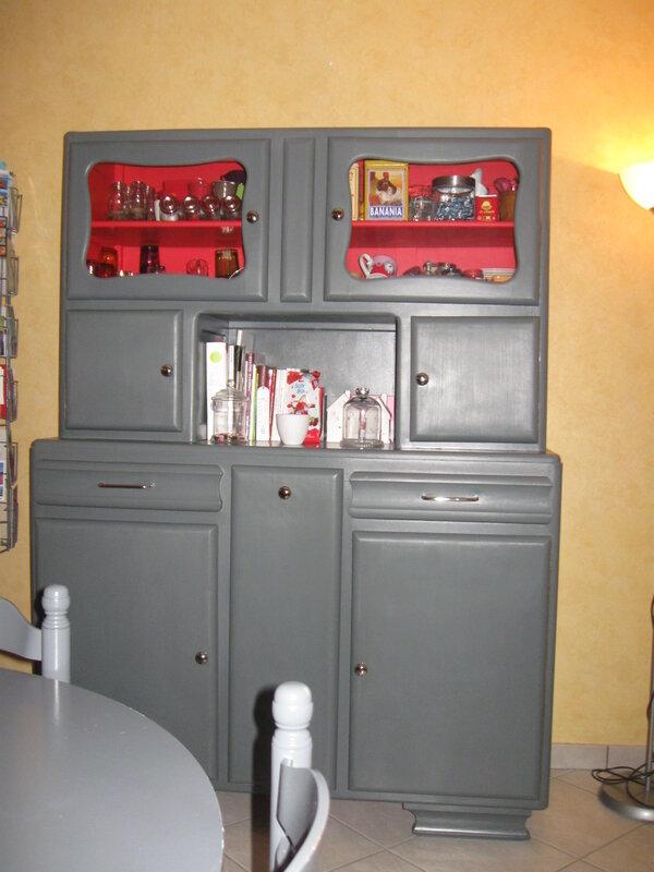 buffet vintage relooke ann es 50 r serv relook 39 vintage. Black Bedroom Furniture Sets. Home Design Ideas