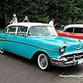 La chevrolet bel-air 4door sport sedan de 1957 (retrorencard aout 2011)