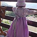 Robe simplicity 7112 3ans fleurs violettes 007