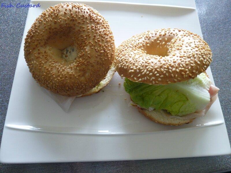 Bagels au jambon cru et bleu d'Auvergne (3)