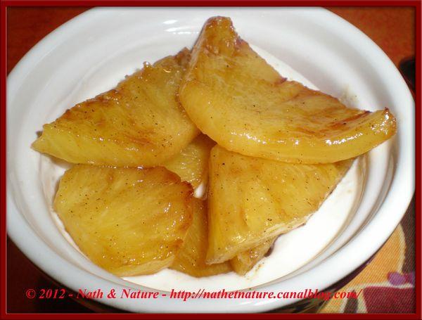 Ananas vanillé sur fromage blanc 2