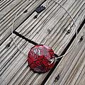 lentille fleur rouge