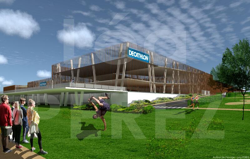 2-Concours DECATHLON - vue entrée extérieur