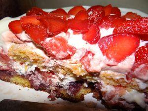 gâteau tranché