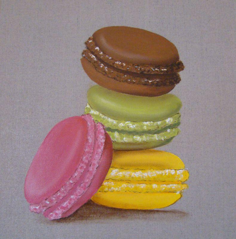peinture acrylique les macarons photo de dans la cuisine aux couleurs de mes envies. Black Bedroom Furniture Sets. Home Design Ideas
