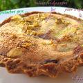 Tarte aux poires toute simple sur fond de pâte à spéculoos
