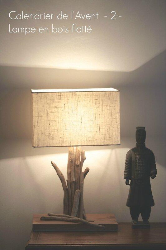 calendrier de l'avent 2 lampe en bois flotté