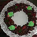 Couronne de noël en chocolat