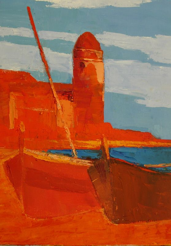 Collioure Rouge - Huile