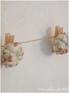 Guirlande de fleurs lin liberty