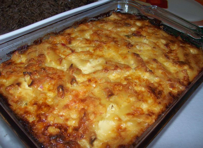 Macaroni gratin recipe dishmaps for Cuisine haitienne