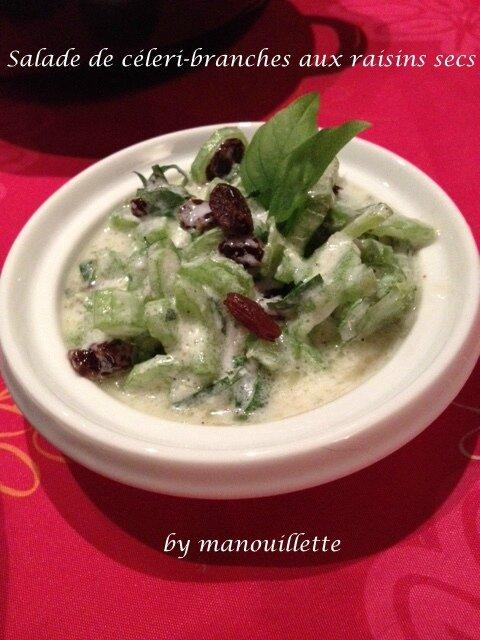 salade de c leri branche aux raisins secs blogs de cuisine. Black Bedroom Furniture Sets. Home Design Ideas