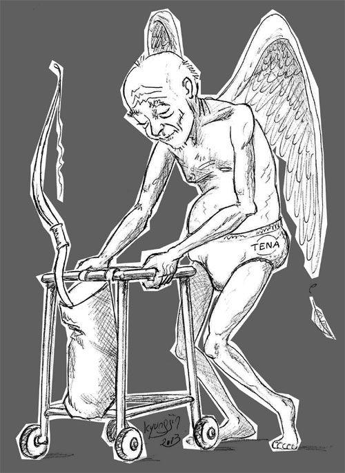 Saint Valentin Cupidon vieux