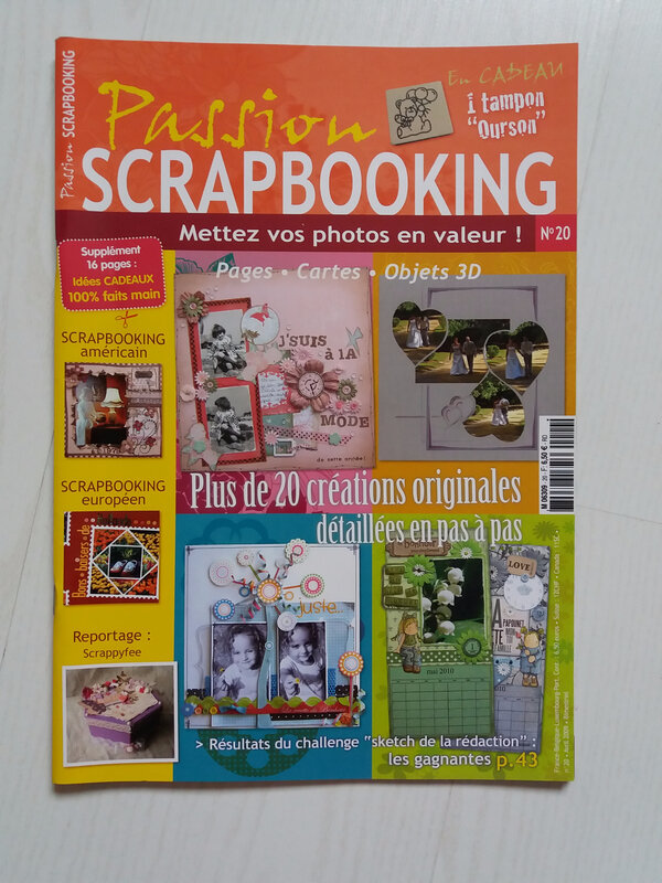 Passion scrapbooking n°20 Avril 2009