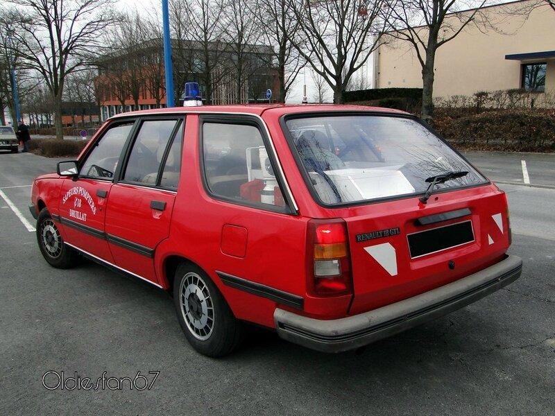 renault 18 gtl type 2 break vehicule de pompier 1984 1989 b