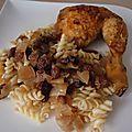 Cuisses de poulet aux raisins secs