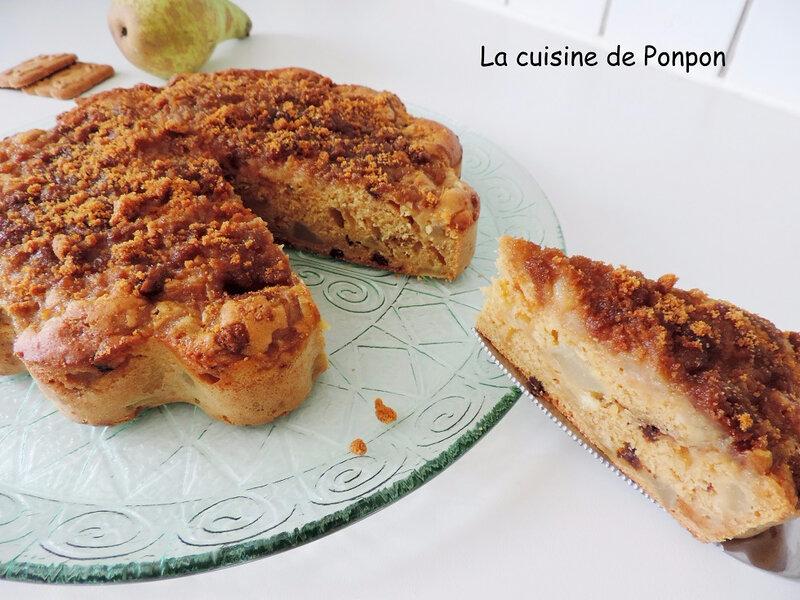 gâteau poire spéculoos (12)