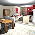 Projet client: relooking d'un salon/séjour
