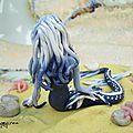 dragon sirene bleu dos