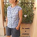 Duo blouse maya et short xxxl