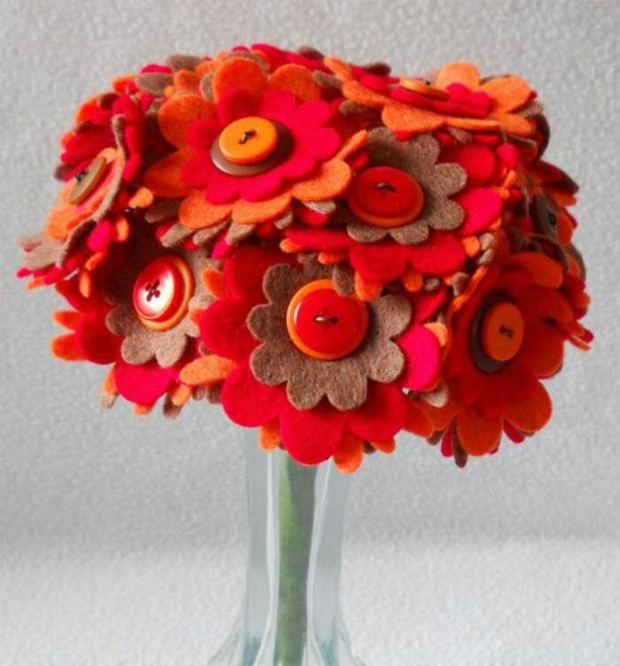 bouquet feutrine