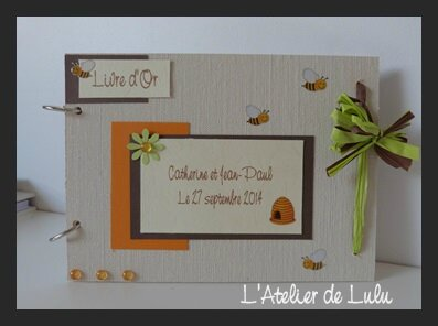 livre d'or mariage abeilles