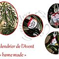 Le calendrier de l'avent home made