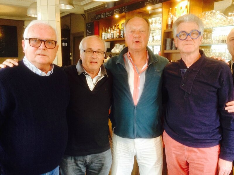 Sur la photo: Pierre Longuet, Denis Boutroy, Bernard Launois et Pierre Claisse