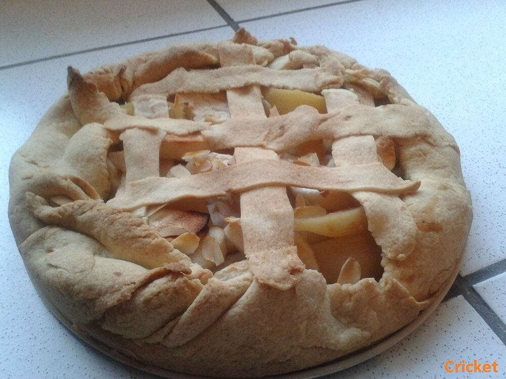Tarte duo aux pommes et aux poires