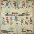 The May Day, Nursery Wallpaper, by Harry Aapper. 1905;