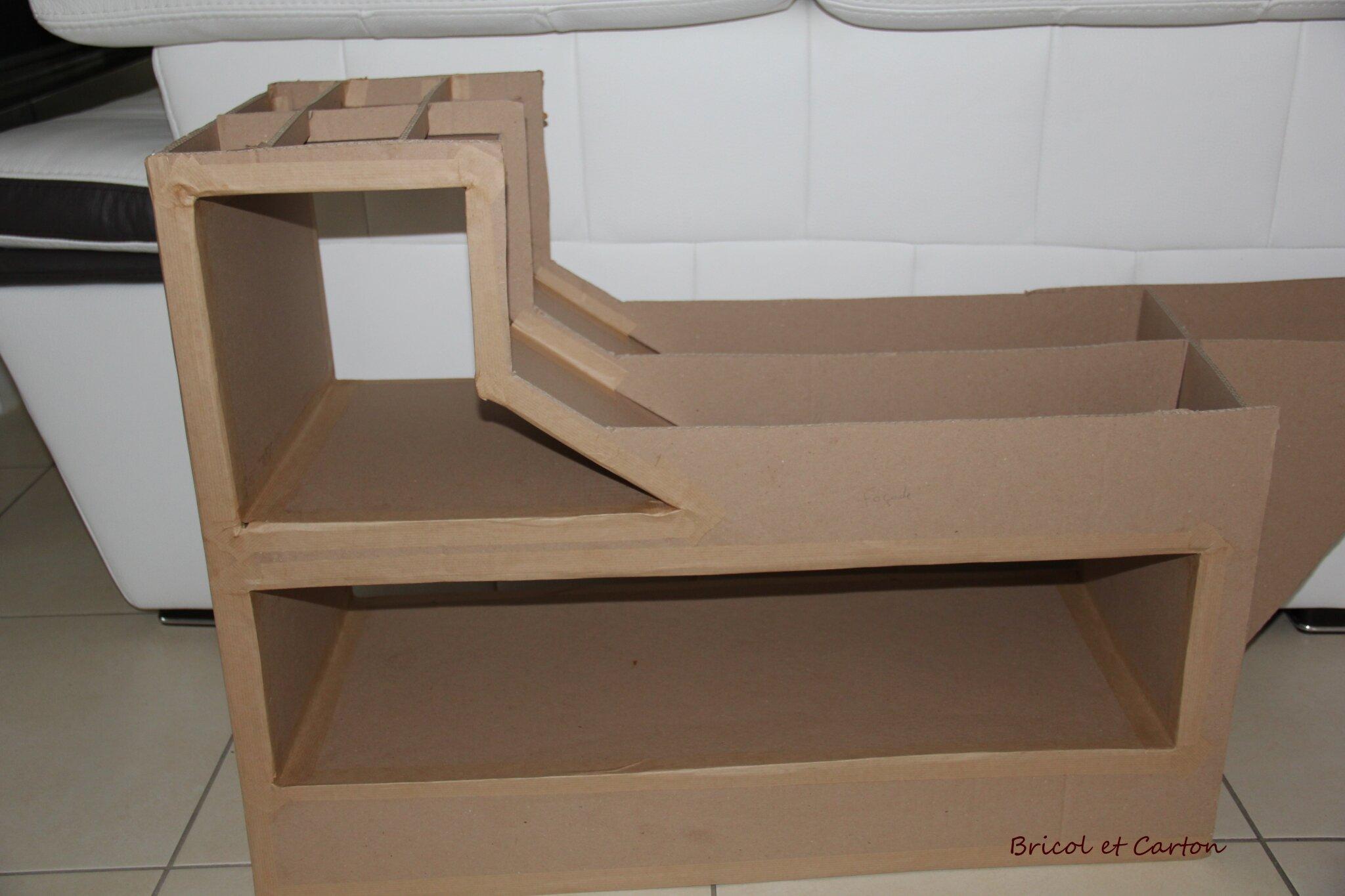 Meuble pirate en carton diy bricol et carton for Meuble chaussure en carton