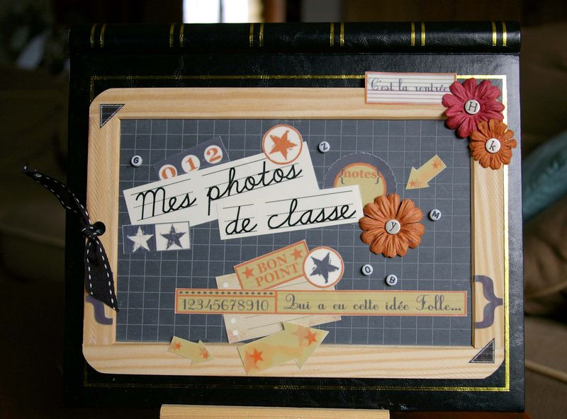 scrapbooking album photo de classe