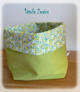 paniere fleurs vert