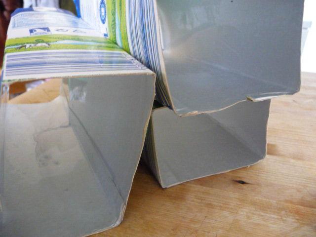 Extrêmement recyclage de brique de lait en petit porte-monnaie - TIWICE JQ49