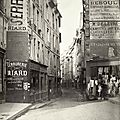 Rue de Bièvre du Bd Saint Germain Paris 1866