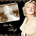 Wallpaper marilyn's kiss
