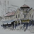 Johanesburg à pied / on foot - croquis / sketches