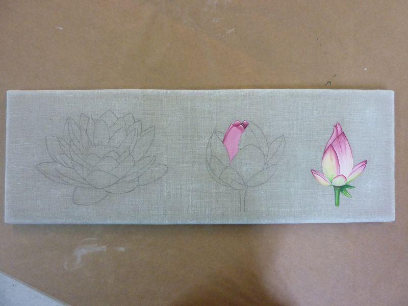 Suzanne lotus florence cours de peintures for Peinture lin naturel