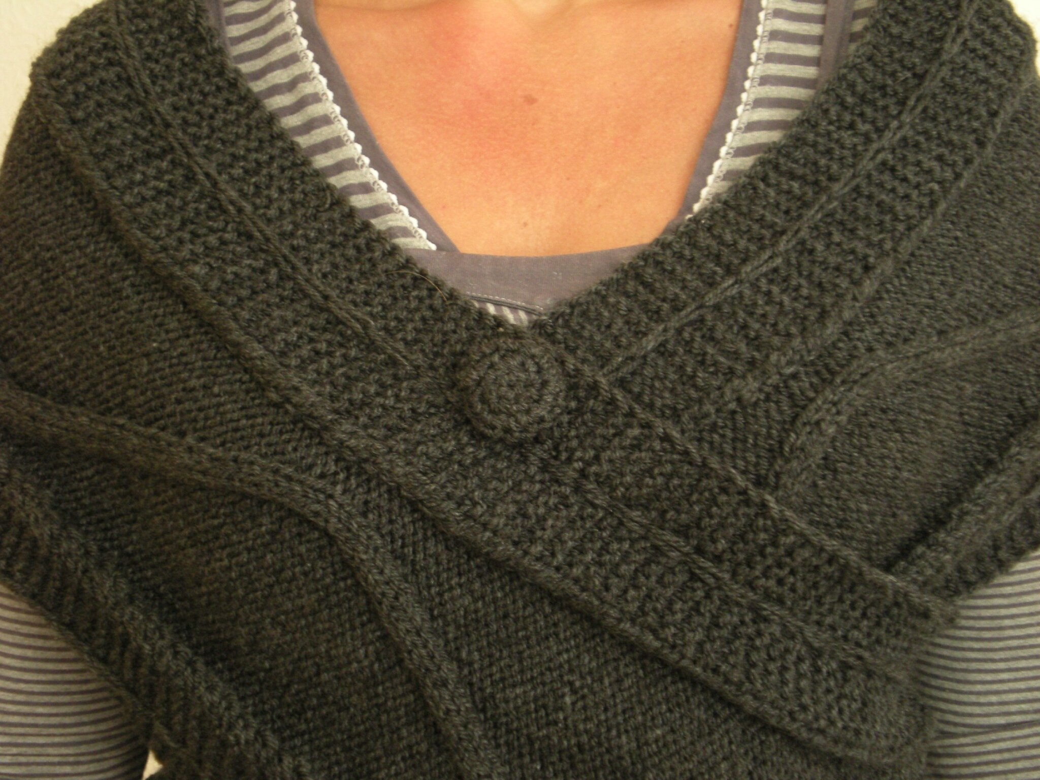 tricoter cache coeur