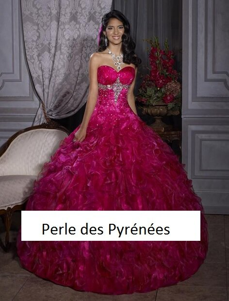 Robe de mariée soirée concours miss, fiançailles rose fushia T 38 ...